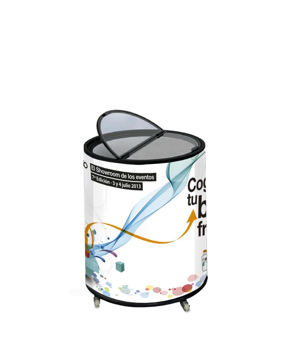 Nevera Expositora con forma de lata