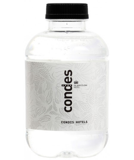 Botella R-Pet Barcelona 25 cl - Etiqueta de Plástico Personalizada - Agua Mineral Natural