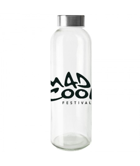 Botella para rellenar de vidrio con tapón metálico - Botella Verre 500 ml.