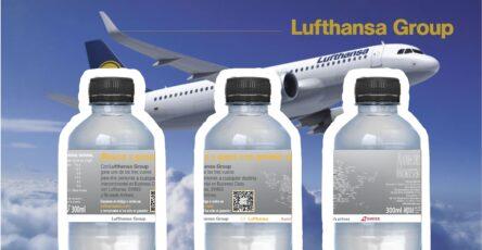 imagen botellas diseño de lufthansa